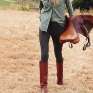 Gorgeous leather Coach riding boots